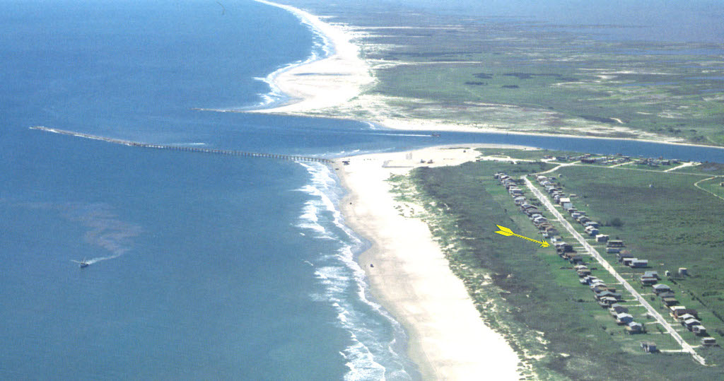 Aerial Photo Of Sand Castle Texas Surf Spot Beach And Beach House